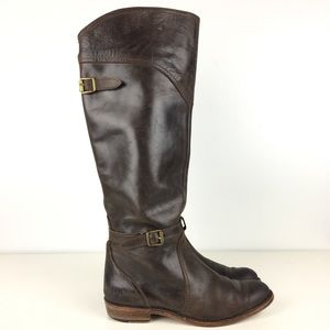 Frye Dorado Boots Womens Size 8M Brown Leather